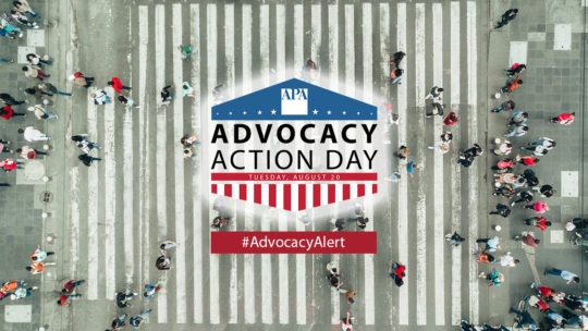 APA Advocacy Action Day is August 20